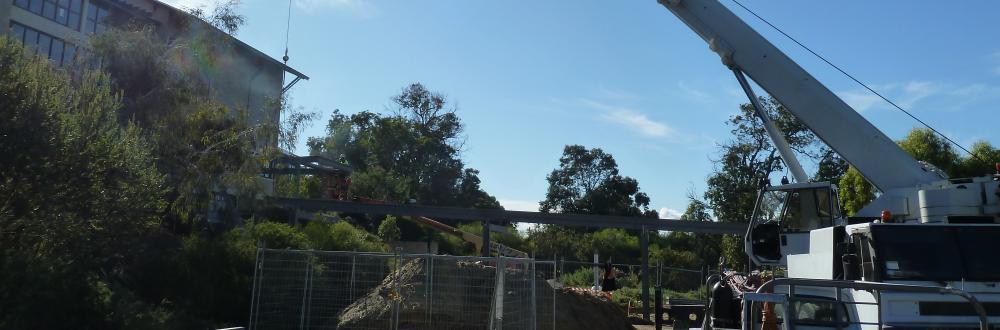 Pivac Engineering 50 Tonne Crane Murdoch University Covered Link